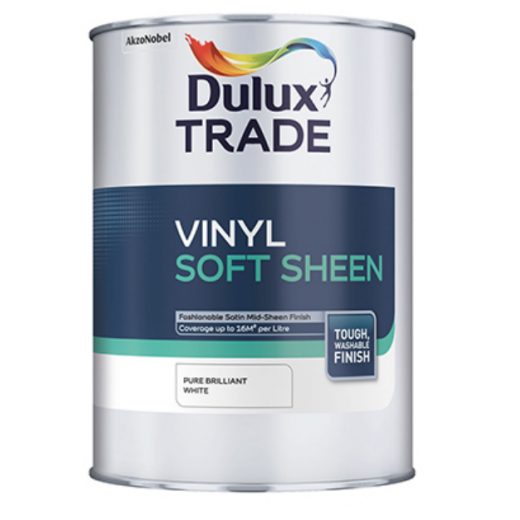 Dulux Trade Soft Sheen White 10ltr