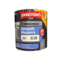 Johnstone's Smooth Masonry Paint - Brilliant White