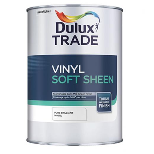 Dulux Trade Soft Sheen White 1ltr